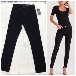 7 For All Mankind Jeans Slim Straight High Rise 28